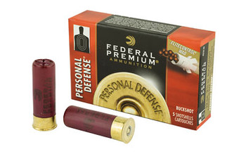 "Federal Personal Defense, 12 Gauge, 2.75"", 00 Buck, Buckshot, 9 Pellets, 5 Round Box PD13200, UPC : 029465027391"