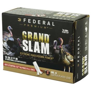 "Federal Grand Slam, 12 Gauge, 3.5"", #6, 2oz, Flight Contro1 10 Round Box PFCX139F 6, UPC :604544631791"