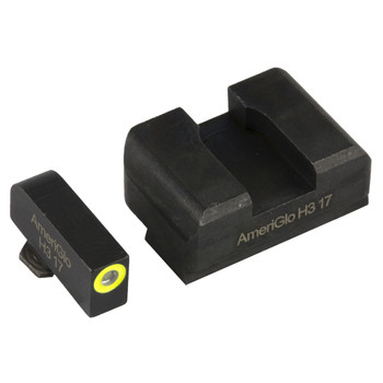 AmeriGlo Pro I-Dot 2 Dot Sights for Glock 17,19,22,23,24,26,27,33,34,35,37,38,39, Green/Green, Front and Rear Sights GL-301, UPC :644406905301