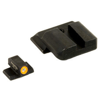 AmeriGlo Hackathorn Sight, Fits All S&W M&P (except Shield), Green/Orange, Green Tritium Front Sight with Orange Outline, Serrated Black Rear Sight SW-433B, UPC :644406905141