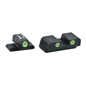 AmeriGlo Classic Series 3 Dot Sights for Springfield XD, Green with White Outline, Front and Rear Sights XD-191, UPC :644406901501