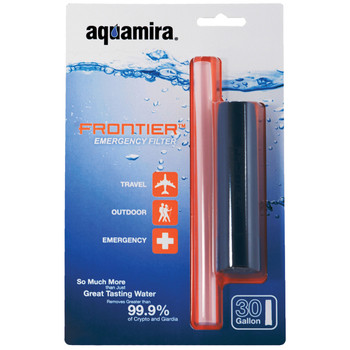 Aquamira Frontier Filter, Emergency Water Filter System, Filters Up to 20 Gallons of Water 67109, UPC :877267001091