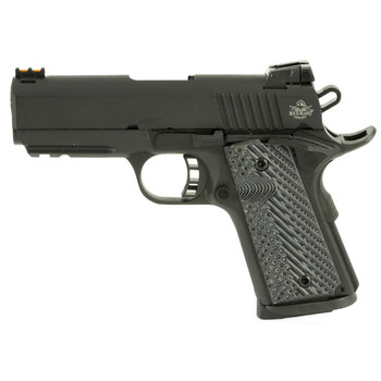 "Armscor Rock Island, Tac Series Ultra CS, Semi-automatic, 1911, 45 ACP, 3.5"", Steel, Parkerized, G10 Grips, Ambidextrous, Adjustable Sights, 1 Magazine, 7 Rounds 51470, UPC :4806015514701"