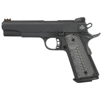 "Armscor Rock Island 1911, Full Size, 10MM, 5"" Barrel, Steel Frame, Parkerized Finish, Synthetic Grips, Novak Adjustable Sight, 8Rd, Fired Case 51991, UPC :4806015519911"