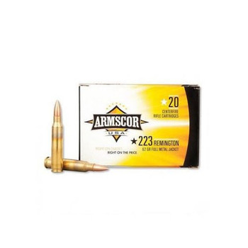 Armscor 223 Rem, 62 Grain, Bonded Pointed Soft Point, 20 Round Box AC223-4N, UPC :812285021911