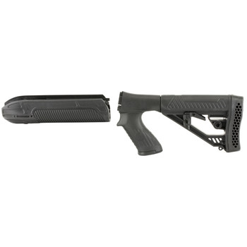 Adaptive Tactical EX Performance Stock Kit, Fits Remington 870 12 Gauge, Forend and M4 Style Stock, Black Finish AT-02000, UPC :682146910711