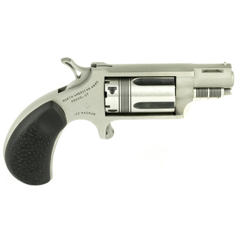 """North American Arms The Wasp, Single Action, Micro Compact, 22LR/22WMR, 1.125"""" Barrel, Stainless Steel Frame, Rubber Grips, 5Rd NAA-22MSC-TW, UPC :744253002311"""