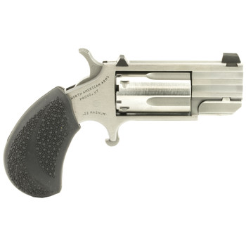 """North American Arms Pug, Single Action, 22WMR, 1"""" Barrel, Heavy Barrel, Steel Frame, Stainless Finish, Rubber Grips, XS White Dot Sights, 5Rd NAA-PUG-D, UPC :744253001871"""