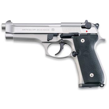 "Beretta 92FS, Semi-Automatic, 9MM, 4.9"" Barrel, Alloy Frame, Stainless Finish, 15 Rounds JS92F520M, UPC : 082442868851"