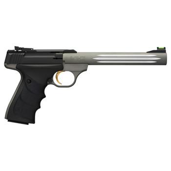 "Browning Buck Mark, Lite, Semi-automatic, 22LR, 7.25"", Aluminum, Gray, URX, 10Rd, Fluted Barrel, Fiber Optic 051462490, UPC : 023614068211"