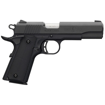 "Browning 1911-380, Black Label, Semi-automatic, Full Size, 380ACP, 4.25"" Barrel, Polymer Frame, Black Finish, Black Polymer Grips, 8Rd 051904492, UPC : 023614044451"