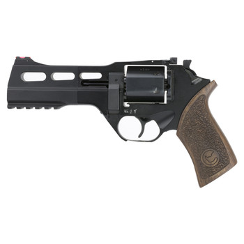 "Chiappa Firearms Rhino 50SAR Revolver, Single Action, 9mm, 5"" Barrel, Alloy Frame, Black Finish, Walnut Grips, Adjustable Rear Sights, 3 Moon Clips, 6 Rounds CF340-278, UPC :8053670717381"