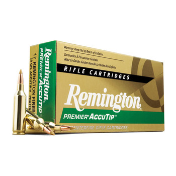 Remington Premier Accutip, 17 Remington FireBall, 20 Grain, Boat Tail, 20 Round Box 29165, UPC : 047700396101