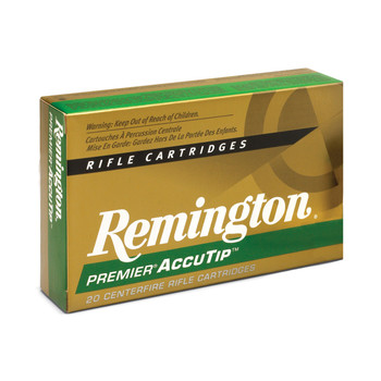 Remington Premier Accutip, 204 Ruger, 32 Grain, Accutip, 20 Round Box 29218, UPC : 047700383101
