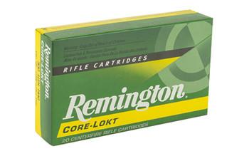 Remington Core Lokt, 300 WIN MAN, 150 Grain, Pointed Soft Point, 20 Round Box 29495, UPC : 047700055701
