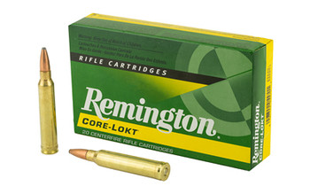 Remington Core Lokt, 300 WIN MAN, 150 Grain, Pointed Soft Point, 20 Round Box 29495, UPC : 047700055701
