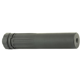 Daniel Defense Wave QD Suppressor, 7.62MM, One-piece 3D Printed Inconel Construction, ACME Thread Quick-Clamping System, 5.56MM Configuration With 1/2X28 Threads, 17.2 oz, Black Finish, NOTE: 7.62MM Suppressor For Use On 5.56 Platform 06-140-12049-00
