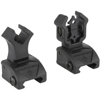 Diamondhead USA, Inc. Polymer Diamond Intergrated Sighting System (I.S.S.), Fits AR Rifles, Flip-up Front/Rear Sight, with NiteBrite, Black Finish 1499, UPC :857880003511