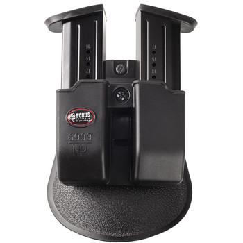 Fobus Paddle Magazine Pouch, Fits Double Magazine Sig/Beretta/Browning, Kydex, Black 6909NDP, UPC :676315033301