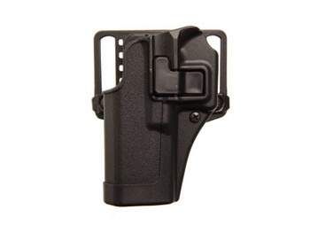 BLACKHAWK! CQC SERPA Belt Holster, Fits Glock 43, Left Hand,Black 410568BK-L, UPC :604544616231