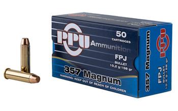 Prvi Partizan Pistol, 357 Mag, 158 Grain, Flat Point Jacket, 50 Round Box PPH357MF, UPC :8605003813101