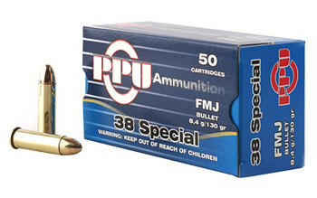Prvi Partizan Pistol, 38 Special, 130 Grain, Full Metal Jacket, 50 Round Box PPH38SF, UPC :8605003813071