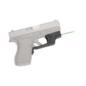 Crimson Trace Corporation Laserguard, Green Laser, For Glock 42 and 43, Black Finish LG-443G, UPC :610242006151