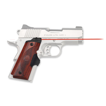 """Crimson Trace Corporation Master Series Laser Grip, Fits 1911 Officer's/Defender And Most Other 1911's With Grips Screws Measuring 2 11/16"""" Apart, Natural Rosewood, Micro-Compact Diode, Fits Ambi-Safety Models, Front Activation LG-902, UPC :610242001"""