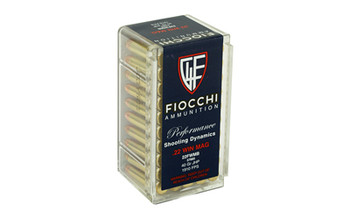 Fiocchi Ammunition Rimfire, 22WMR, 40 Grain, Jacketed HollowPoint, 50 Round Box 22FWMB, UPC :762344710051