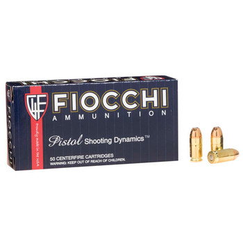 Fiocchi Ammunition Centerfire Pistol, 380ACP, 90 Grain, Jacketed Hollow Point, 50 Round Box 380APHP, UPC :762344001821