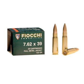 Fiocchi Ammunition Rifle, 762X39, 124 Grain, Full Metal Jacket, 20 Round Box 762SOVA, UPC :762344704951