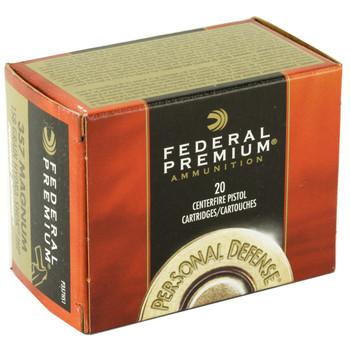 Federal Hydra-Shok, 357MAG, 158 Grain, Hollow Point, 20 Round Box P357HS1, UPC : 029465085421