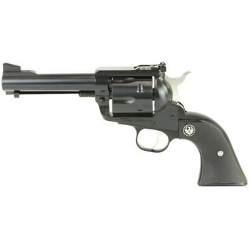 "Ruger Blackhawk Convertible, Single-Action Revolver, 45 Colt/45ACP, 4.6"" Barrel, Blued Finish, Alloy Steel, Aluminum Frame, Black Checkered Hard Rubber Grips, Adjustable Rear & Ramp Front Sight, 6Rd 00446, UPC :736676004461"