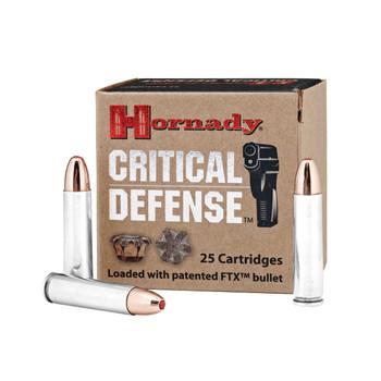 Hornady Critical Defense, 30 Carbine, 110 Grain, Flex Tip, 25 Round Box 81030, UPC : 090255810301