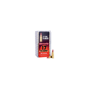 Hornady Hunting, 17 Hornady Mach 2, 17 Grain, V-Max, 50 Round Box 83177, UPC : 090255831771