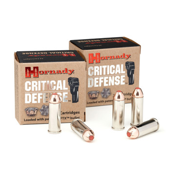 Hornady Critical Defense, 44 Special, 165 Grain, FTX, 20 Round Box 90700, UPC : 090255907001