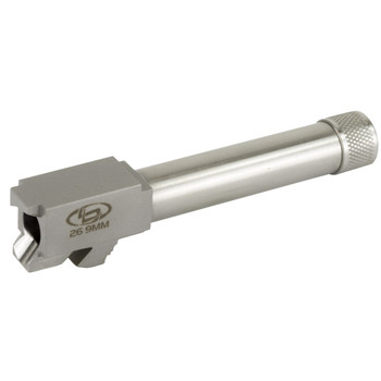 """StormLake Barrels Barrel, 9MM, 4.16"""" Barrel, Fits Glock 26, Stainless Finish, 1/2-28 Threaded, with Thread Protector 34048, UPC :848589002271"""