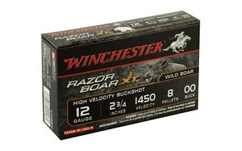 "Winchester Ammunition Razorback XT, 12 Gauge, 2.75"", Buckshot, 5 Round Box S12RB00, UPC : 020892021181"