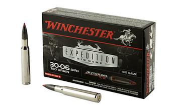 Winchester Ammunition Supreme, 30-06, 180 Grain, Nosler Accubond, 20 Round Box S3006CT, UPC : 020892214361
