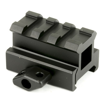 """Leapers, Inc. - UTG 3-Slot Compact Riser Mount, .83"""", Medium Compact Height , Picatinny, Black MNT-RS08S3, UPC :4712274526501"""