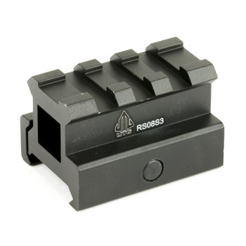 "Leapers, Inc. - UTG 3-Slot Compact Riser Mount, .83"", Medium Compact Height , Picatinny, Black MNT-RS08S3, UPC :4712274526501"