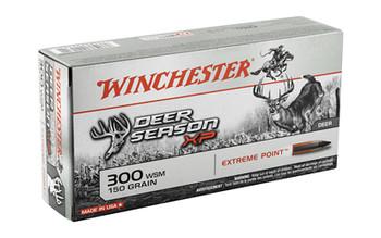 Winchester Ammunition Deer Season, 300 WSM, 150 Grain, Extreme Point Polymer Tip, 20 Round Box X300SDS, UPC : 020892221611