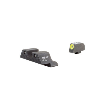 Trijicon HD Tritium Sight, 3 Dot Green Tritium With Yellow Front Outline, Fits Glock 20/21/29/30/31/32 GL104Y, UPC :719307209701