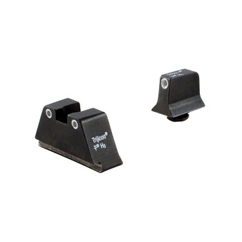 Trijicon Bright  Tough Suppressor Height Night Sights, Fits Glock 20/21/29/30, Tritium Front/Rear, Green 3 Dot GL204-C-600689, UPC :719307212251