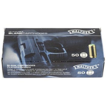 Umarex 9MM Blanks, 50 Round Box 2252753, UPC :723364527531