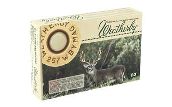 Weatherby Select Plus Ammunition, 257 Weatherby, 80 Grain, Barnes Tipped Triple Shock X, 20 Round Box B25780TTSX, UPC :747115418541