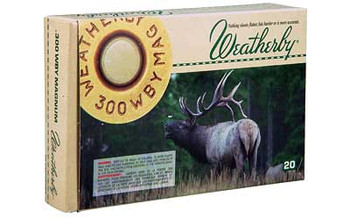 Weatherby Select Ammunition, 300 Weatherby, 180 Grain, Norma Spitzer, 20 Round Box G300180SR, UPC :747115419371
