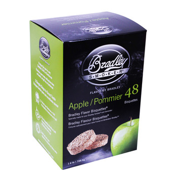 Bradley Apple Bisquettes 48 Pack, UPC :689796220221
