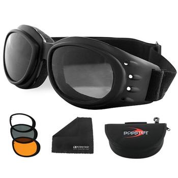 Bobster Cruiser 2 Interchange Goggle Black Frame 3 Lenses, UPC :642608012001