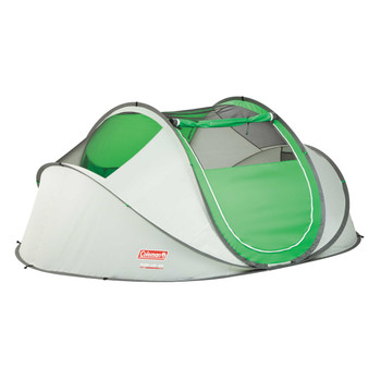 Coleman Popup 4 Tent 9.25x6.5 Foot Green/Lght Gry 2000014782, UPC : 076501117721